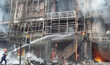 Cháy kho hàng Công ty TNHH DV Minh Chương tại Hóc Môn