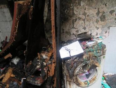 Quận 6: Cháy nhà dân do chập điện máy giặt