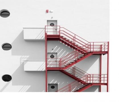 Thi công cầu thang thoát hiểm